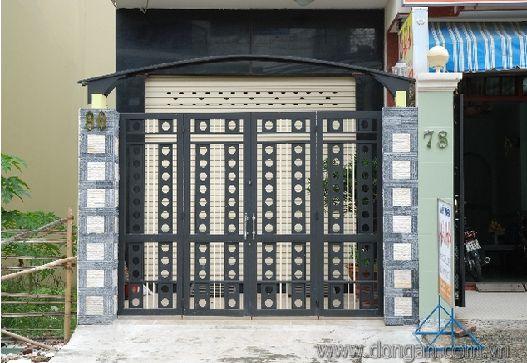 Cửa cổng sắt đẹp có độ an toàn tương đối cao