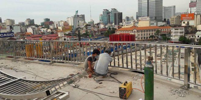 THUẬN PHÁT đang trong quá trình hoàn thành công trình lắp đặt LAN CAN SẮT ở quận 1 TpHCM