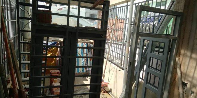 THUẬN PHÁT hoàn thành CÔNG TRÌNH làm cửa sắt 2 cánh ở quận 3 TpHCM