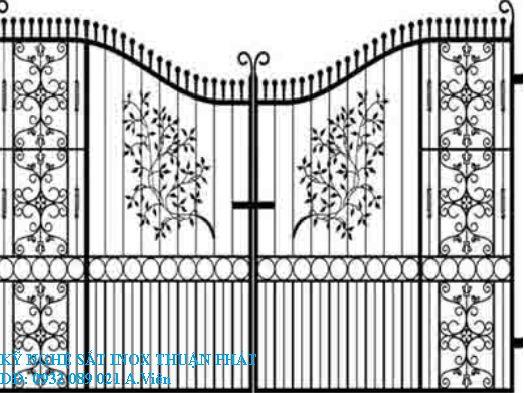Mẫu cửa cổng sắt đẹp 07