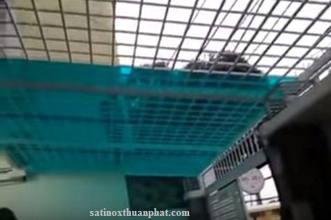 Khung bảo vệ sắt hộp chia ô vuông