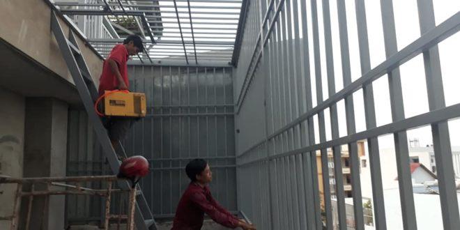 Thuận Phát lắp KHUNG BẢO VỆ cho khách hàng quận Tân Bình