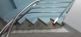 Cầu thang LƯỢN inox 304 lắp cho khách hàng quận Bình Thạnh