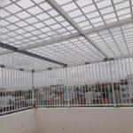 Khung bảo vệ lắp đặt tại công trình